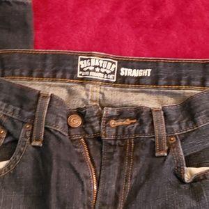 "Mens Levi 34""x32"" Strauss Signature Straight Jeans"